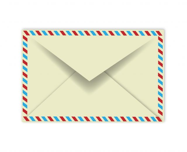 レトロなエアメール封筒の無料ベクターイラスト素材 All Free