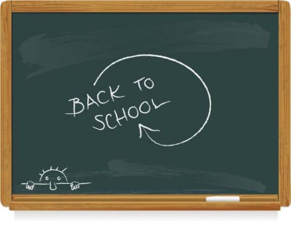 School-blackboard-Vector-material-02-600x469 ハイクオリティーなブラックボード(黒板)の無料ベクタークリップアート素材