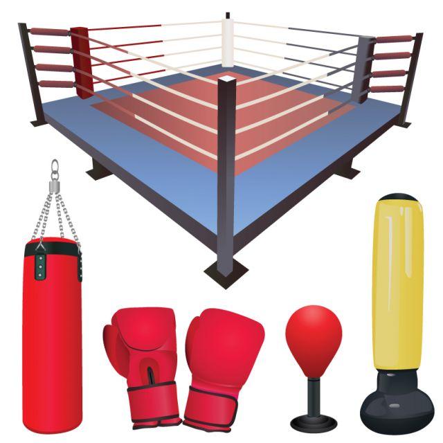 Set-of-Boxing-design-elements-vector-04 ボクシングに関連のある無料ベクタークリップアート素材