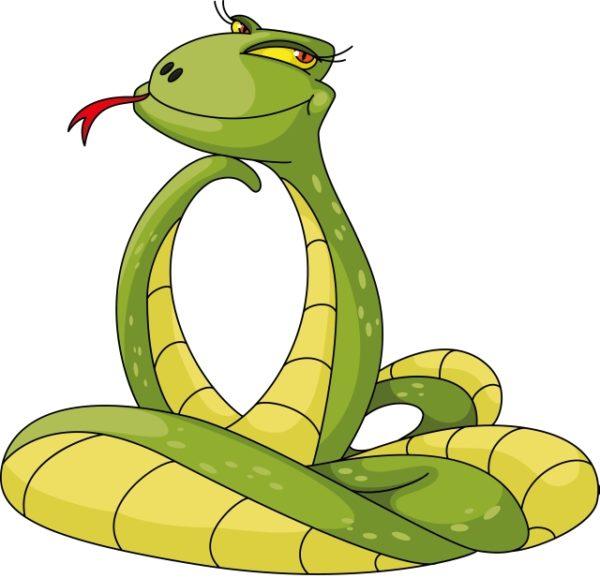 Set-of-Snake-New-Year-design-elements-vector-031-600x578 流し目のヘビ(干支・巳)無料ベクターイラスト素材