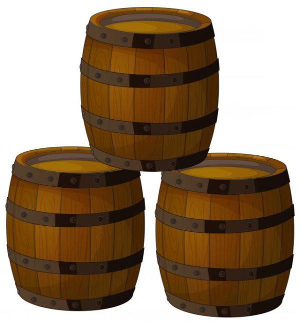 Set-of-Wooden-Wine-barrel-vector-material-05-600x643 ワイン樽の無料ベクタークリップアート素材