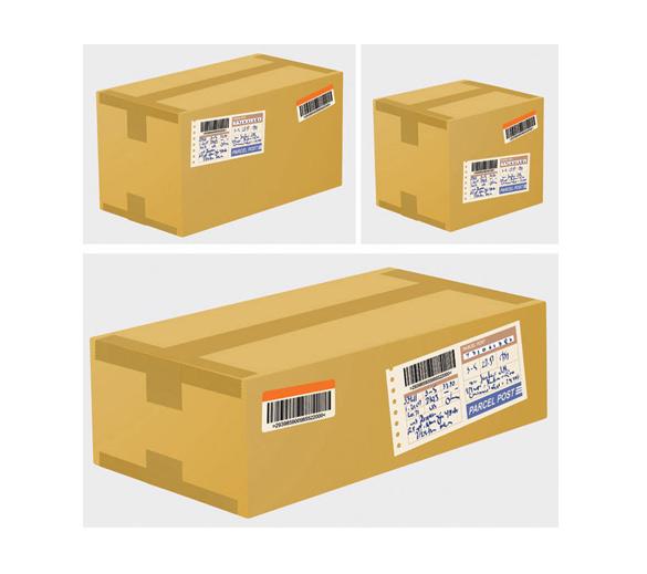 Shipping Cardboard Vector Boxes