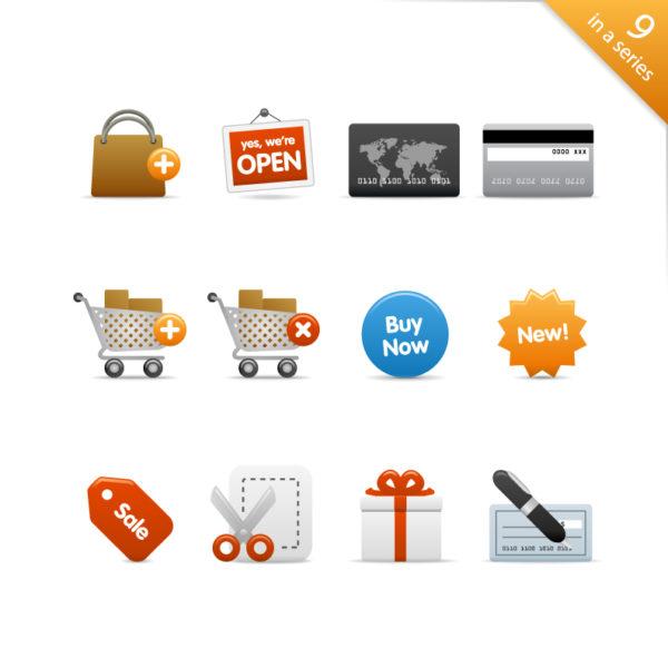 Shopping-category-icon-vector-material-600x600 ショッピングに関連するシンプルなクリップアート