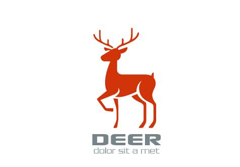 Simple-deer-logo-design-vector ロゴデザインに!シンプルなシカの無料ベクターイラスト素材