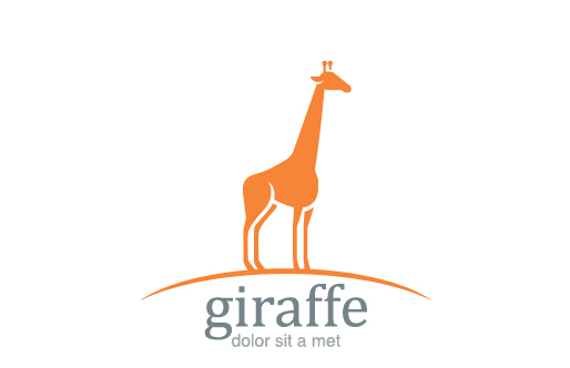Simple-giraffe-logo-design-vector