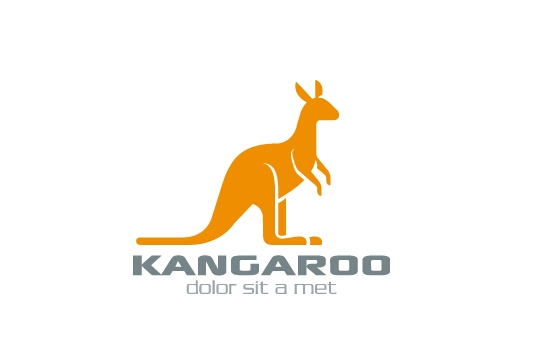 Simple-kangaroo-logo-design-vector