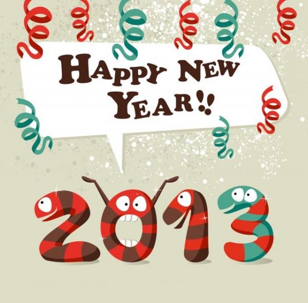 Snake-2013-Christmas-design-vector-graphics-10-600x589 ポップなデザインの年賀状素材(巳・ヘビ)無料ベクターイラスト素材