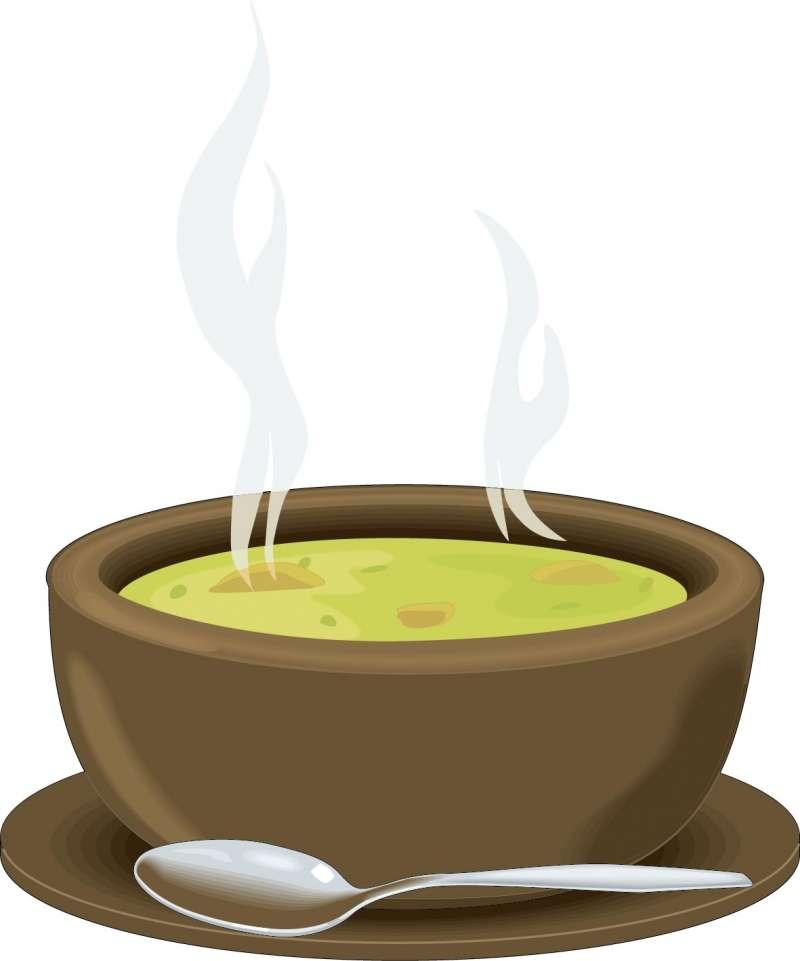 湯気が立った温かいスープの無料ベクターイラスト素材 All Free Clipart