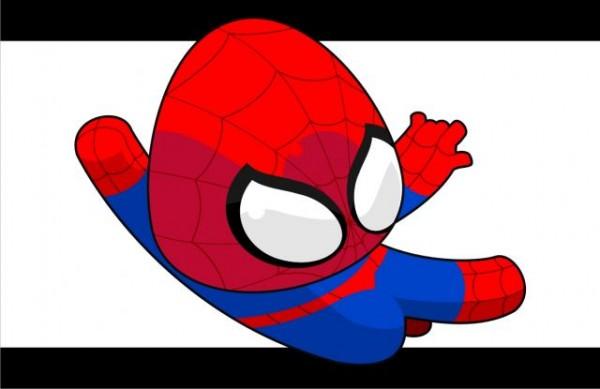 Spidee_by_ShininX-600x389 超かわいいスパイダーマンの無料ベクターイラスト素材