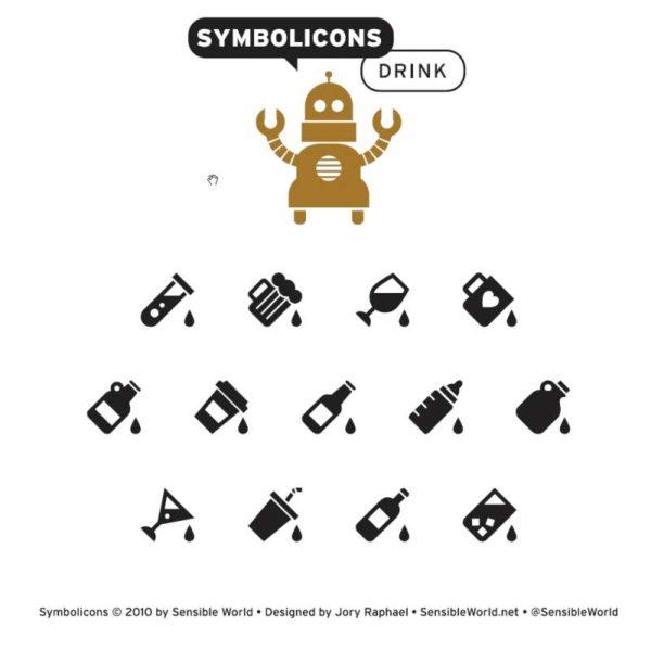Symbolicons_Drink-600x600 ドリンク類13種類。アイコンタイプの無料のベクターイラスト素材