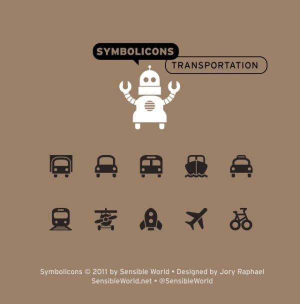 Symbolicons_Transportation-600x608 シンプルな6種類の乗物アイコン。高品位ベクタークリップアート素材