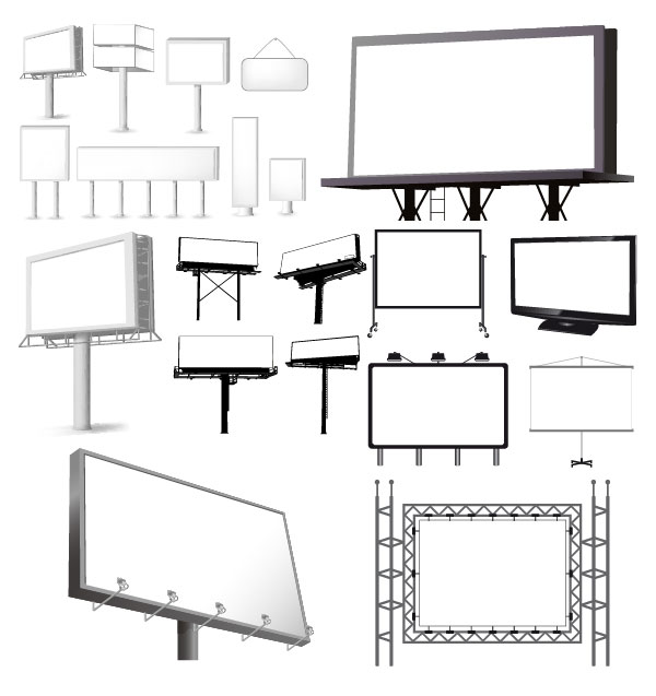 Variety-of-types-of-outdoor-billboard-template-vector-material2