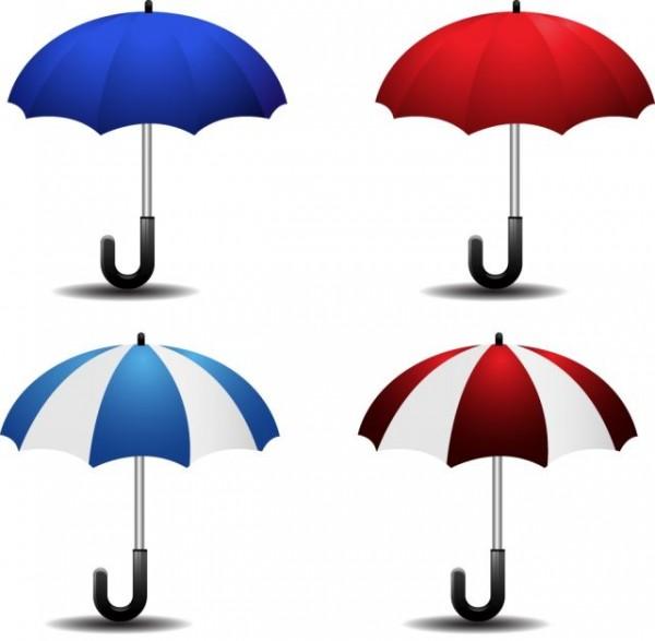 Various-Colorful-Umbrellas01-600x587 カラフルなパラソルの無料ベクタークリップアート素材