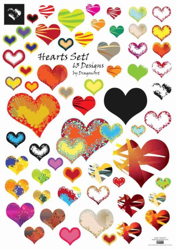 Vector-Hearts-Set1-600x849 ガーリーでかわいいハートマーク♥がいっぱい!無料ベクタークリップアート