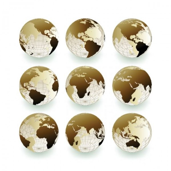 Vector Set of Earth Globe icon