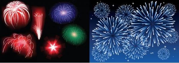 Vector-brilliant-fireworks-3-4 豪華!綺麗な花火の無料ベクターイラスト素材5個