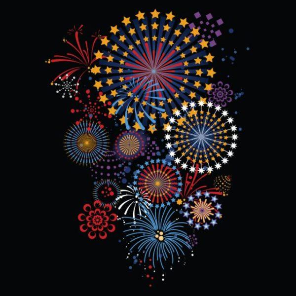Vector-brilliant-fireworks-5-600x600 豪華!綺麗な花火の無料ベクターイラスト素材5個