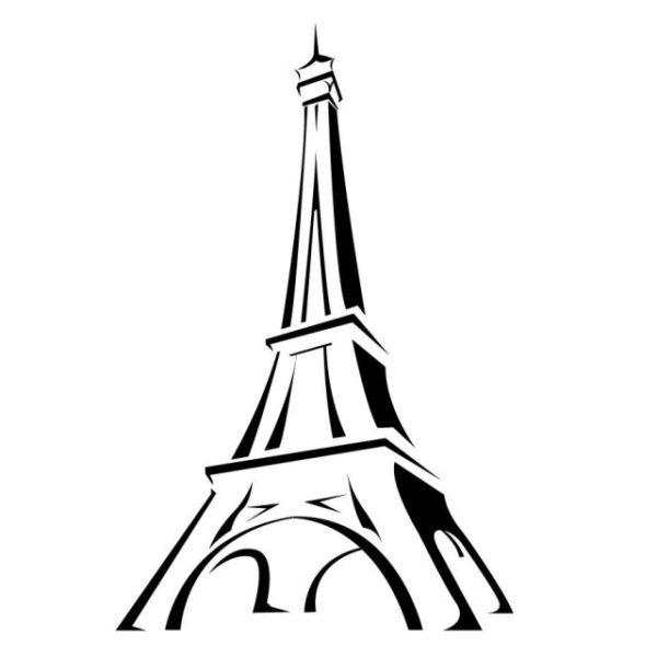 Vector_city_00000491-600x600 筆による手書き風フランス・パリ・エッフェル塔。無料ベクターイラスト素材