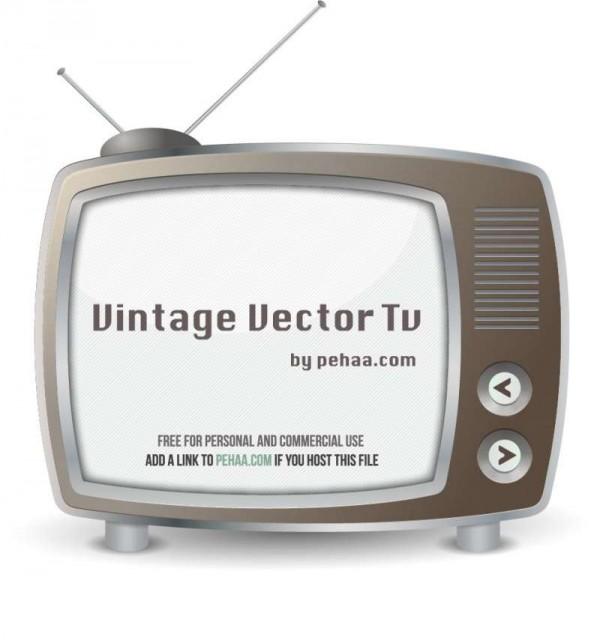 Vintage-free-vector-TV-set--600x640 昔懐かしいノスタルジックなテレビ。無料ベクタークリップアート素材