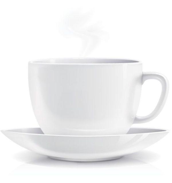 White-Coffee-Cup-Vector-600x639 クリーンなホワイトのコーヒーカップ。フリーベクタークリップアート素材。