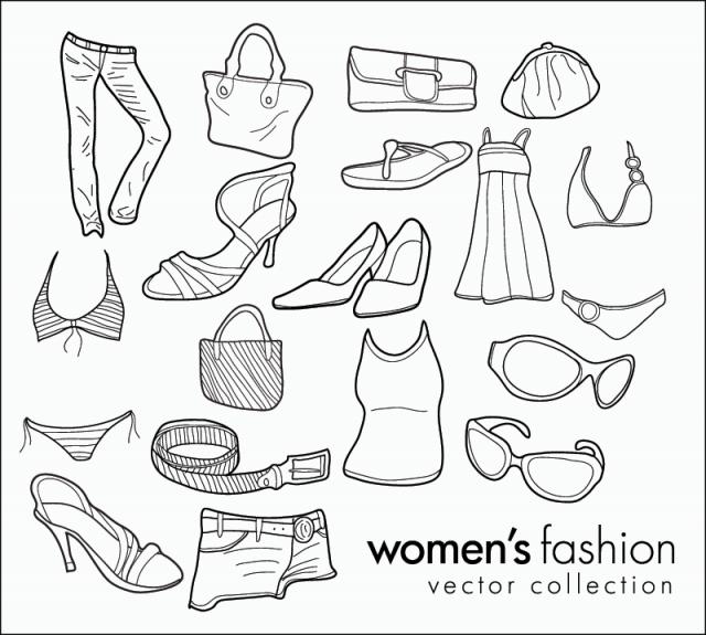 Spur Art Design Your Line : 手書きが可愛い女子のファッションに関するガーリーな無料ベクタークリップアート素材 - all free clipart