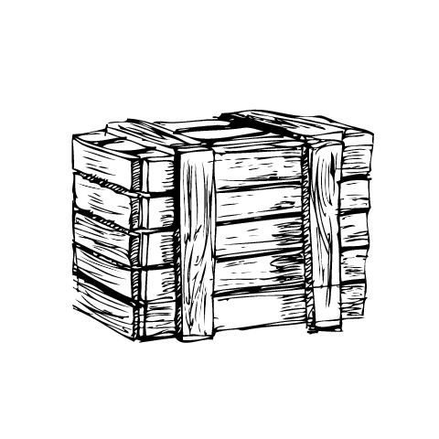 Wooden-box-Vector 木箱の無料ベクタークリップアート素材