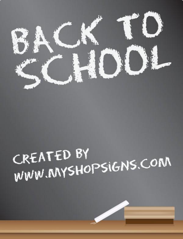 back-to-school-600x784 新学期!黒板の無料ベクターイラスト素材(EPS)
