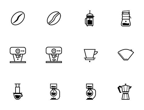 barista-preview_01 バリスタやコーヒー愛好家必見のアイコンセット