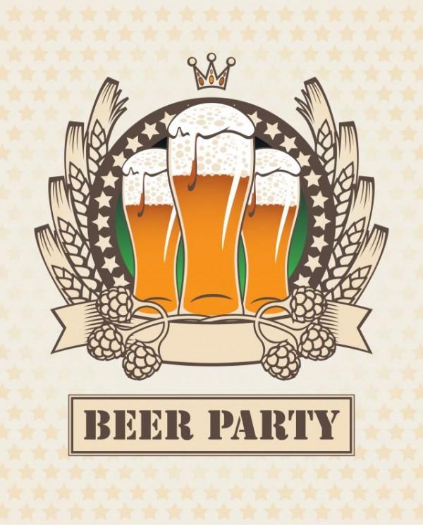 beer2-3-600x745 夏と言えばビール!レトロなビールのイラスト素材(無料ベクターデータ)