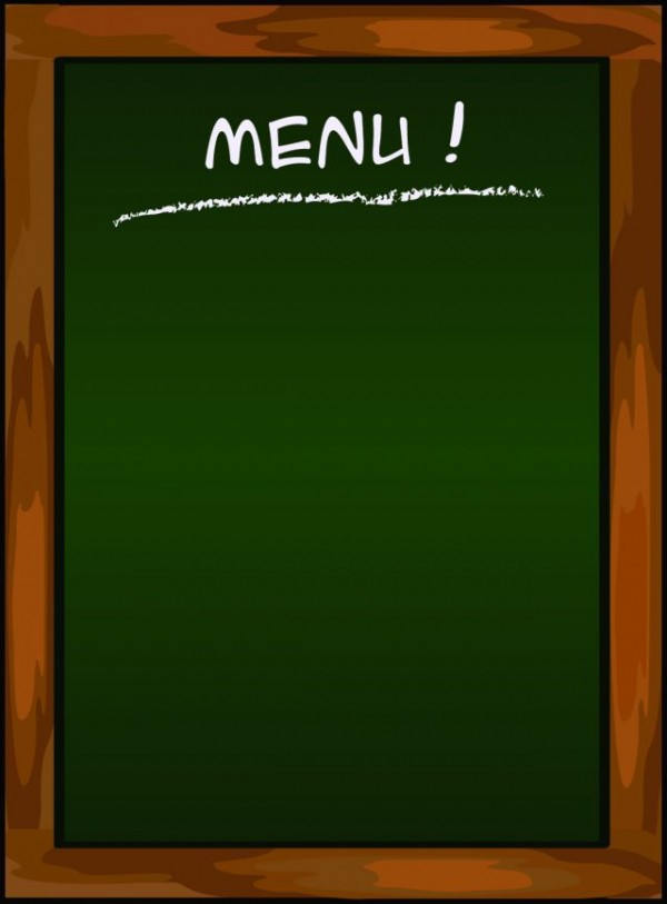 black-Menu-vector-background-02-600x813 メニューボードに最適!縦型黒板の無料ベクタークリップアート素材