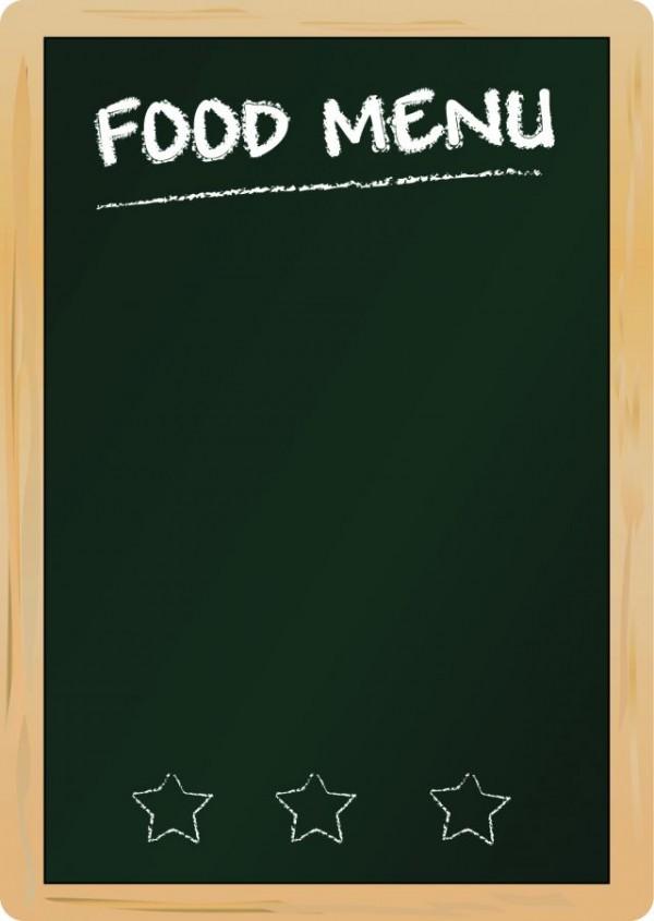 black-Menu-vector-background-04-600x845 メニューボードに最適!白木の縦型黒板。無料ベクタークリップアート素材