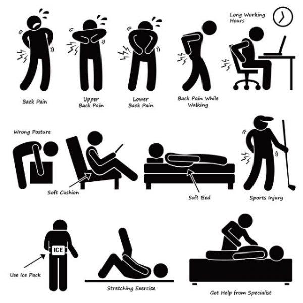 body-injured-people-vector-600x600 怪我(腰痛)痛みの種類や治療に関するピクトグラム風イラスト素材。