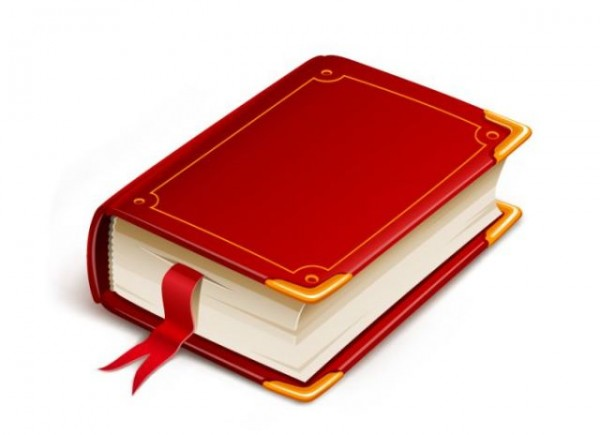 book-vector-600x435 アンティークな本の無料ベクタークリップアート素材
