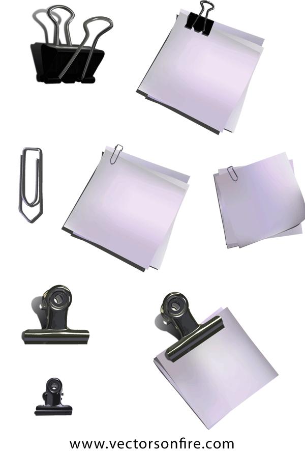 boryana.paperclip.preview フリークリップアート素材。ダブルクリップ・ペーパークリップのイラスト素材