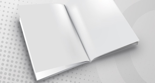 brochure-3d-template 印刷前(無地)の冊子。無料ベクターイラスト素材