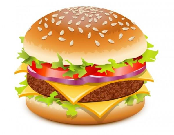 burger-vector-600x466 ハイクオリティーベクターイラスト素材。ハンバーガーのクリップアート