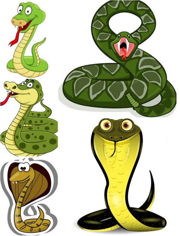 cartoon-snake-vector-600x786 年賀状用の干支(巳)に最適!無料ベクターイラスト素材