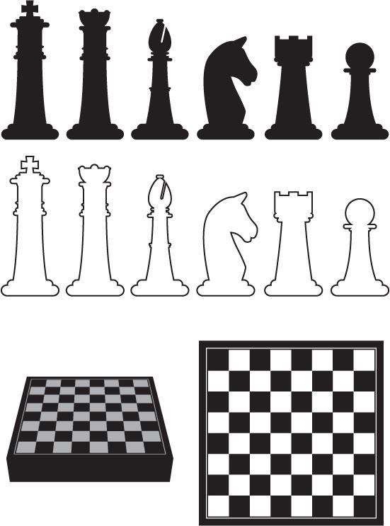 chess_vectors_10011301 チェスボード、チェスの駒のイラスト素材