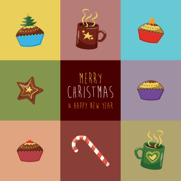 christmas_greeting_card かわいいクリスマスカード用イラスト素材