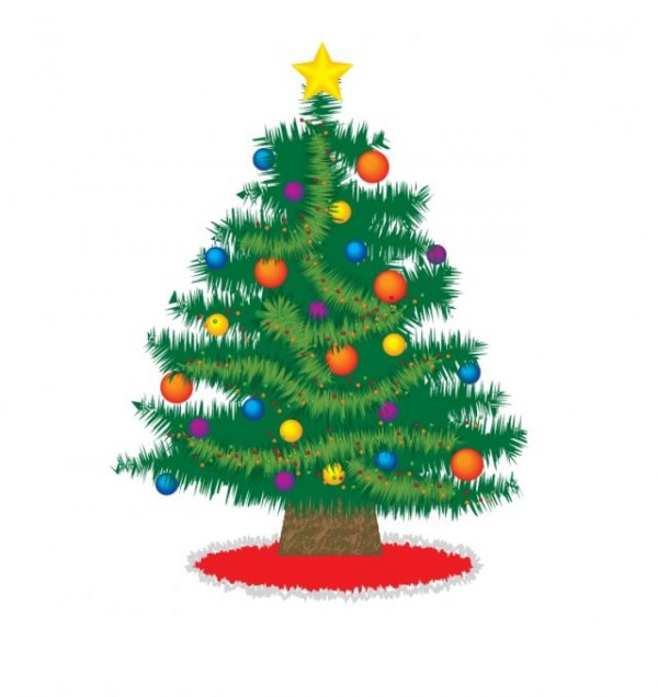 christmas_tree-1-600x636 これぞクリスマスツリーといえるシンプルなイラスト素材