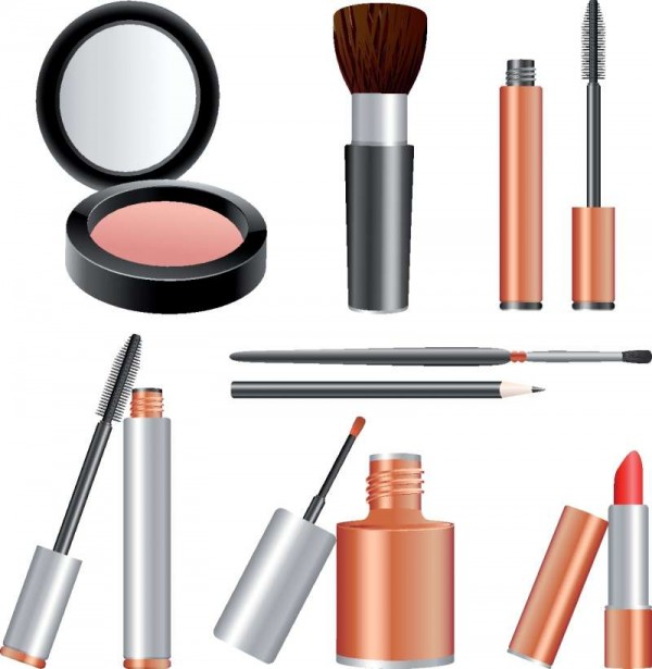 cosmetics-vector-600x615 ハイクオリティーなコスメ・メイク用品の無料ベクタークリップアート素材