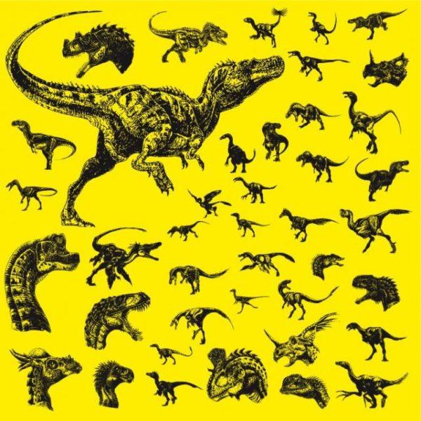 dinosaurs-vector-600x600 ティラノザウルスなど肉食系恐竜の無料ベクターシルエット素材