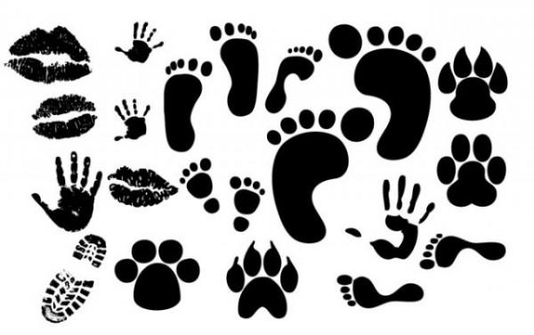 foot-hand-lip-prints-600x376 手形&足跡&キスマークの無料ベクターシルエット素材