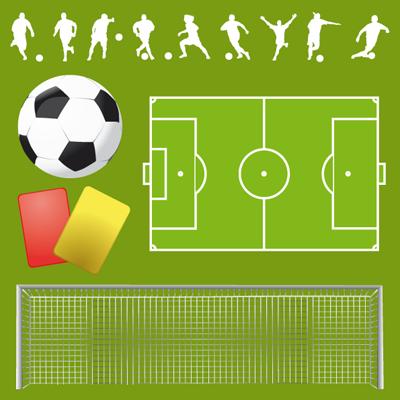 football-vector サッカー関連素材(シルエット・ボール・ゴール・フィールド・カード)