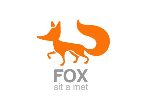 fox-design-vector-logos-material シンプルでインパクトのあるキツネの無料ベクターイラスト素材