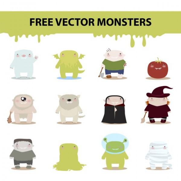 free_vector_monsters_by_harridan-d4psnaf