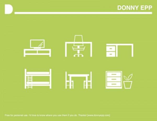 furniture_icons-600x463 シンプルでおしゃれ!クールなインテリア家具の無料ベクタークリップアート6点