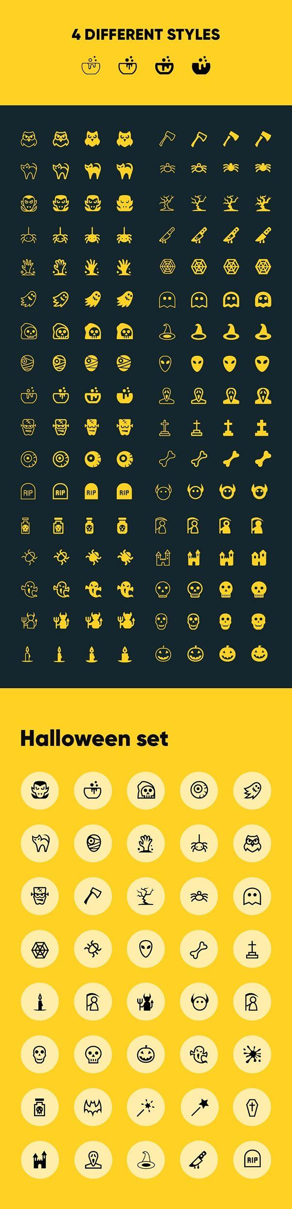 futuramo-halloween-02-600x2482 とっても怖いハロウィンアイコン(ベクター、40種類、4スタイル)