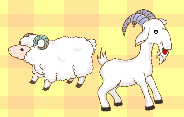 goats-sheep-cartoon-vector-art かわいい羊と山羊の無料ベクタークリップアート素材。