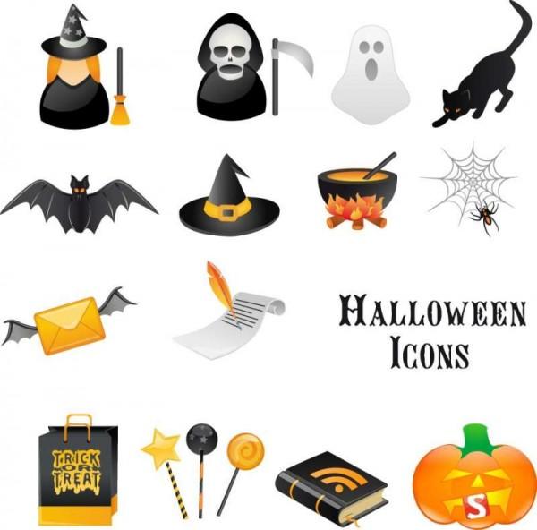 halloween-Free-Vector-600x592 ハロウィンに関連したベクターイラスト素材14個入り